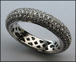 18kt White Gold Pave Set Diamond Eternity Band