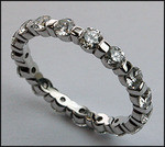 Diamond Eternity Band set with 1.70ct F Color Diamonds