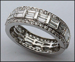 Diamond Eternity Ring with Baguettes and Round Diamonds