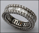 Round and Baguette Diamond Eternity Band