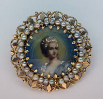 Antique Cultured Pearl Pin/Pendant