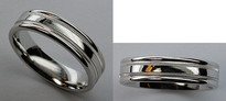 Benchmark White Gold Wedding Band