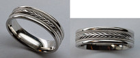 Comfort Fit White Gold Wedding Band by Benchmark
