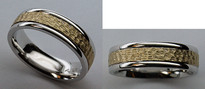 Two-Tone Comfort Fit Gold Wedding Band