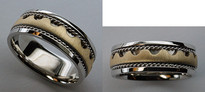Crown Shaped 14kt Wedding Band