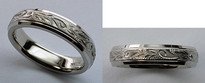 Hand Made Ladies Wedding Band - Comfort Fit