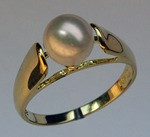 Cultured Pearl Solitaire Ring