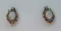 Opal Stud Earrings with Diamonds 40E