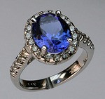 Tanzanite Ring with Diamonds LR5870SARK
