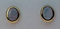 Opal Stud Earring Bezel Set