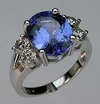 Tanzanite Ring with Diamonds 56ETER