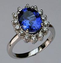 Tanzanite Ring with Diamonds R370 513