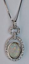 Opal Pendant with Diamonds