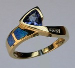 Opal and Tanzanite Ring with Diamonds