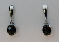 Smokey Topaz Gold Earrings EGE0180