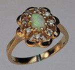 Opal Ring with Diamonds R368