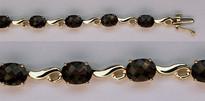 Smokey Topaz Gold Bracelet