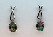 Mystic Topaz Gold Earrings - 3ct