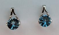 14kt Gold Blue Topaz Earring EGE022