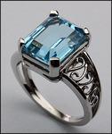 14kt Gold Blue Topaz Ring 24963L