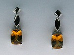 14kt Gold Citrine Earrings EGE549