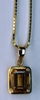 14kt Gold Citrine Pendant 020ML