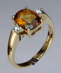 14kt Gold Citrine and Diamond Ring 01YML