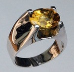 14kt Gold Citrine Ring EGR434