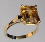 14kt Gold Citrine Ring R569