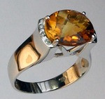 14kt Gold Citrine and Diamond Ring EGR023