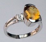 14kt Gold Citrine and Diamond Ring EGR096