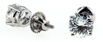 Round Diamond Stud Earrings .25ct