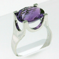 4.05ct White Gold Amethyst Ring