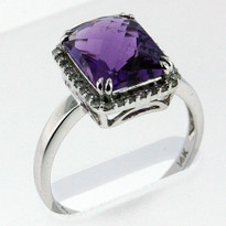 3.25ct Amethyst Diamond Ring