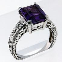 2.3ct Amethyst Diamond Ring