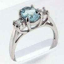 1.30ct  Aquamarine Ladies Ring