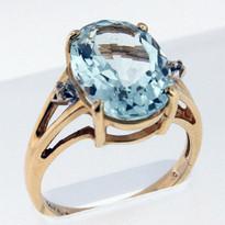 5.01ct Aquamarine Ladies Ring