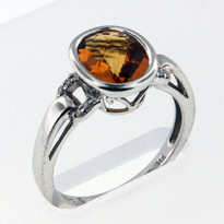 14kt Gold Citrine and Diamond Ring EGR9204-2