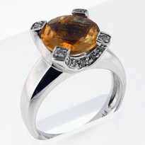 14kt Citrine and Diamond Ring 51FAI-1