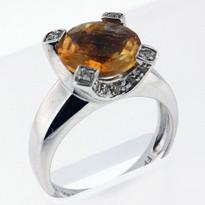 14kt Citrine and Diamond Ring 51FAI-1