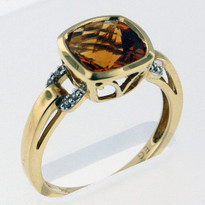 14kt Gold Citrine and Diamond Ring EGR9205