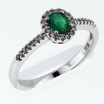 Ring .34ct Emerald White Gold Ring