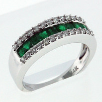 Ring .66ct Emerald White Gold Ring