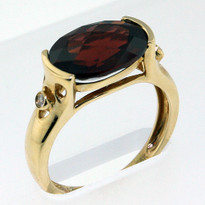 4.51ct Garnet Yellow Gold Ring