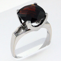5.50ct Garnet White Gold Ring