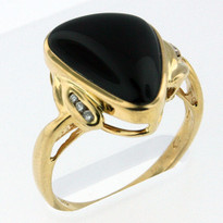 Onyx 4.1ct Ring Yellow Gold