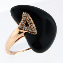Onxy  6.5ct Rose Gold Ring