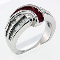 Ruby .35ct Ring in 14k White Gold