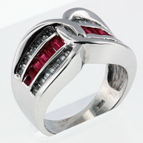 Ruby .40ct Ring in 14kt White Gold