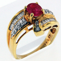 Ruby .80ct Ring Yellow Gold